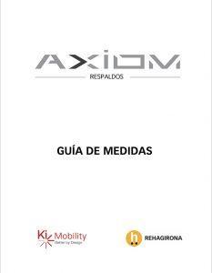 Guía de medidas de los respaldos Axiom - Rehagirona