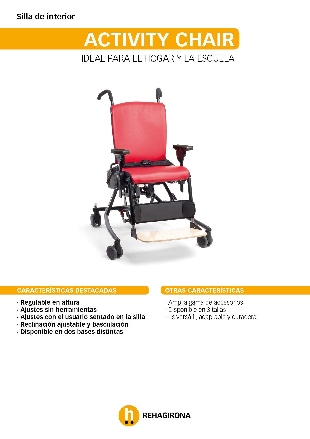 Características y beneficios más destacados de la silla Activity Chair - Rehagirona