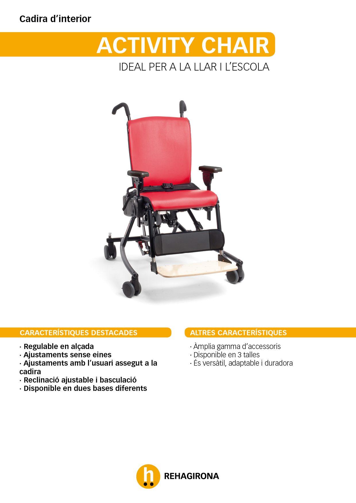 Característiques i beneficis més destacats de la cadira Activity Chair - Rehagirona-beneficis-cadira-activity-rehagirona-2019