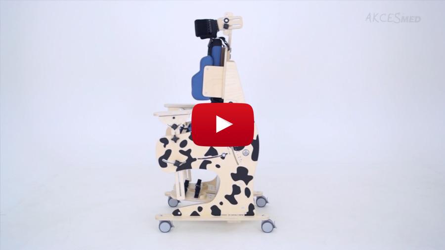 Com utilitzar i ajustar el bipedestador i cadira d'interior Dalmatian