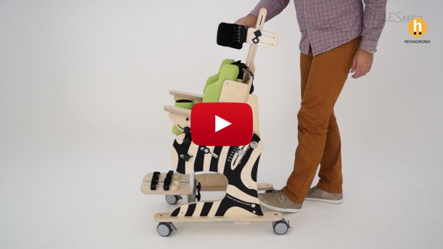 Como ajustar la silla de interior Zebra Invento