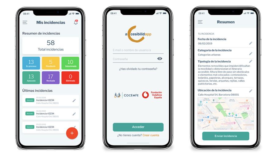 Comunica incidencias relacionadas con la accesibilidad en las ciudades, con AccesibilidApp