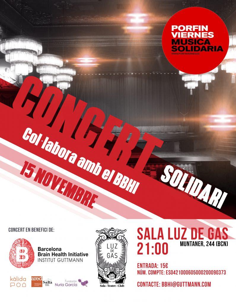 El Institut Guttmann organiza un concierto benéfico por BBHI - Rehagirona