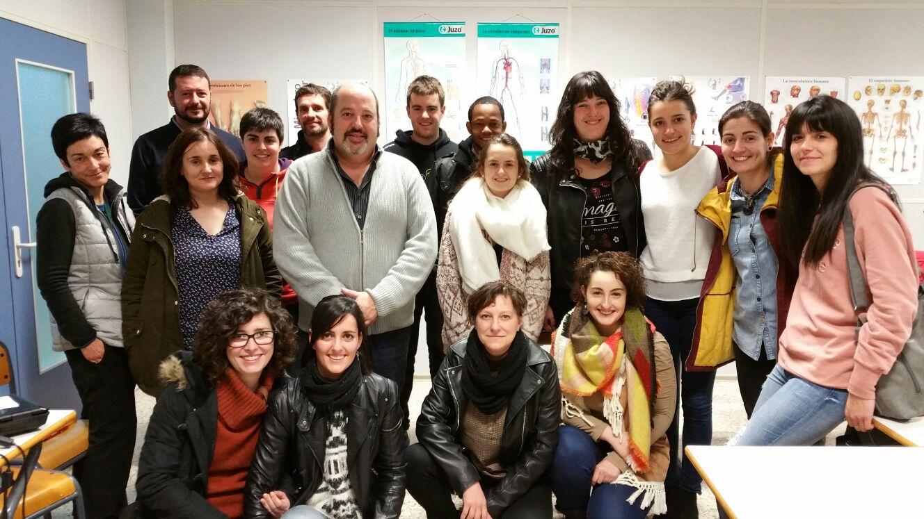 Formación en la Urola Garaiko Lanbide Eskola de Zumarraga a los alunmos del Ciclo de Grado Superior en Ortoprotésica