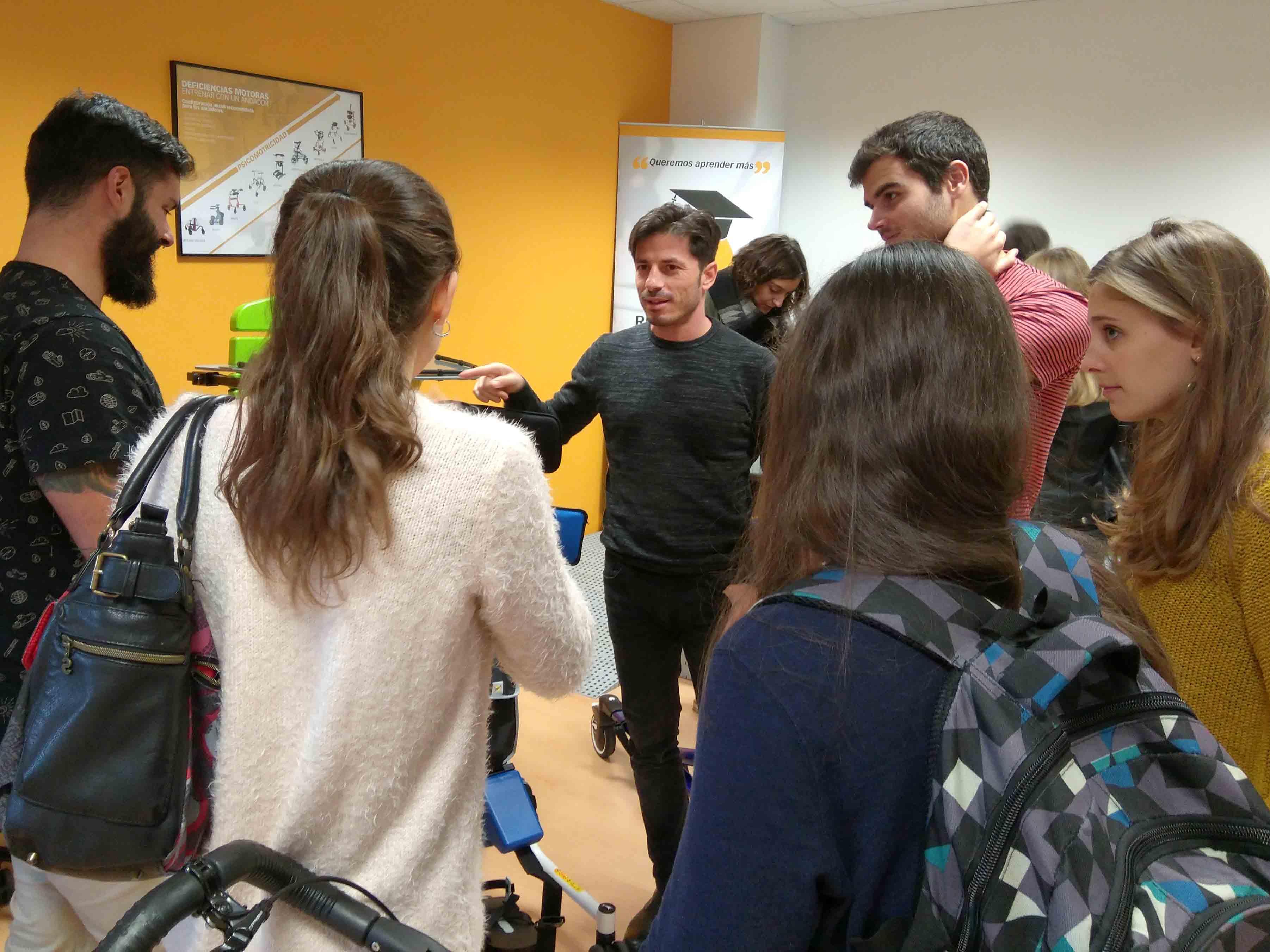 Els alumnes de 4t Curs del Grau de Fisioteràpia de l'EUSES visiten les nostres instal·lacions