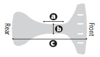 Medidas posicionador cadera E-Pacer - Rehagirona