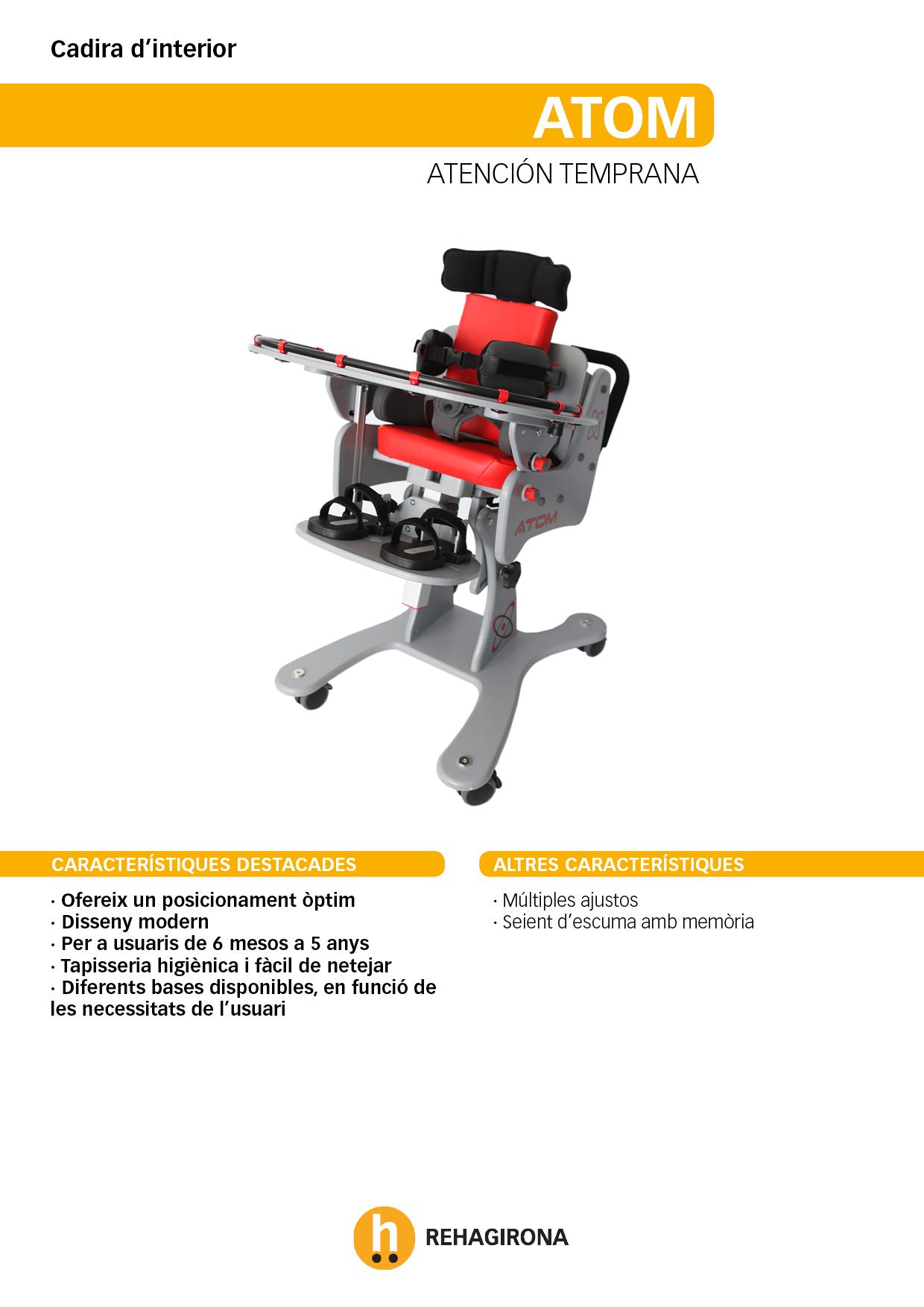 Característiques i beneficis més destacats de la cadira d'interior Atom - Rehagirona