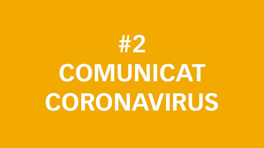 #2 Comunicat oficial sobre el Coronavirus: reducció jornada laboral