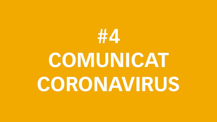 #4 Comunicat oficial sobre el Coronavirus