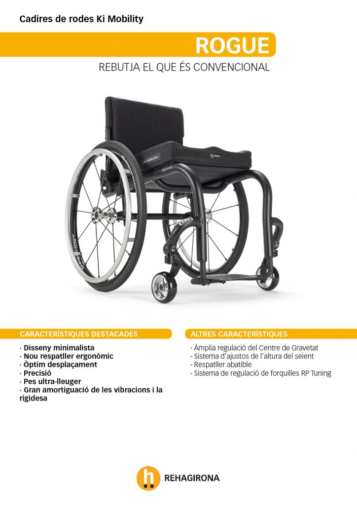 Característiques i beneficis més destacats de la cadira de rodes Rogue - Rehagirona