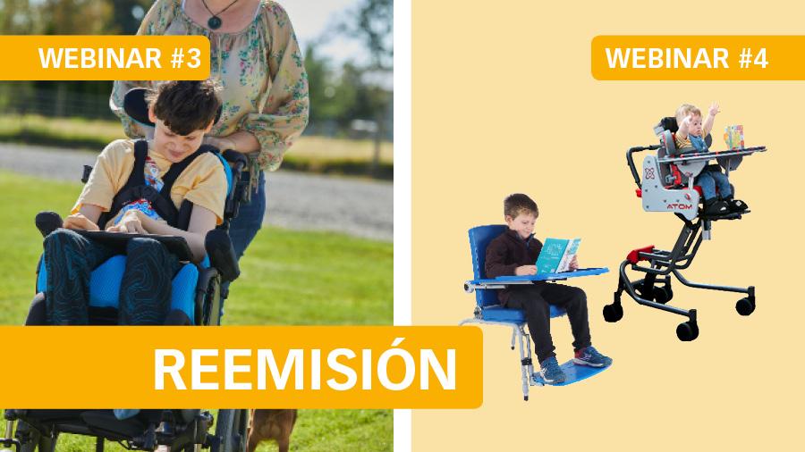 El martes 26 reemitiremos el webinar #3 Posicionamiento en sedestación - P1: cojines Spex, y el jueves 28 #4 Elección y configuración de sillas de interior