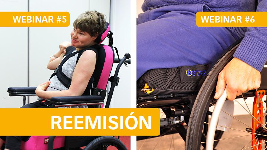El martes 2 reemitiremos el webinar #5 Posicionamiento en sedestación - P2: respaldos Spex, y el jueves 4 #6 Cojines Star: Prevención de úlceras por presión