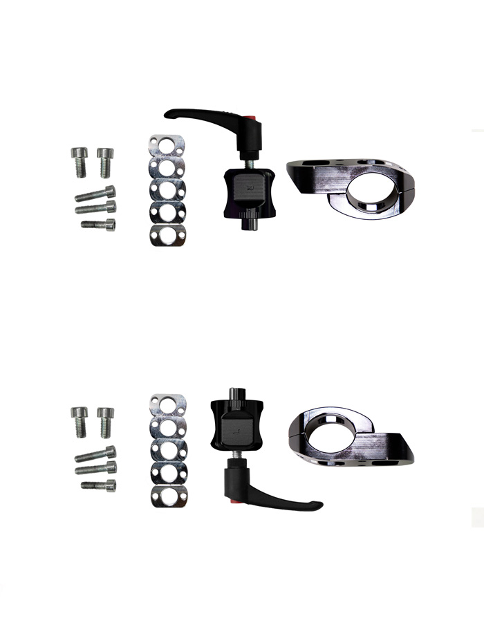 Abrazadera 27×33 mm para tubo ovalado y chasis paralelo y convergente
