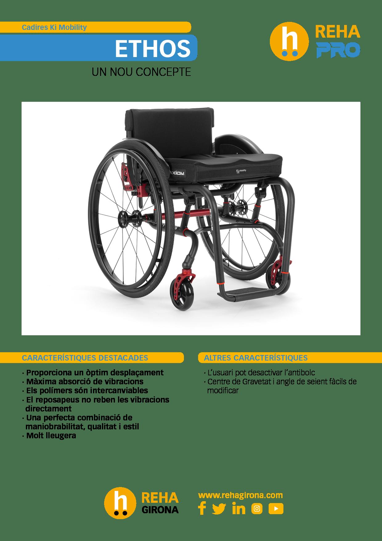 Característiques i beneficis més destacats de la cadira de rodes Ethos - Rehagirona
