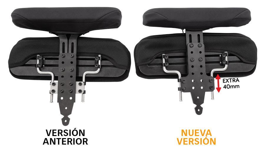 Mayor regulación de altura con los nuevos soportes para reposabrazos y controles de cadera Spex - Rehagirona