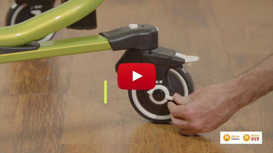 5 funciones de las ruedas del andador Pacer Dinámico