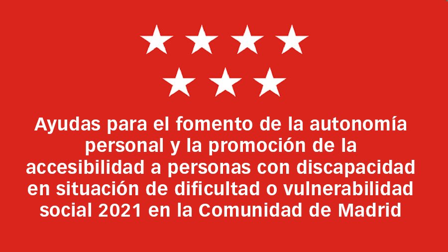 Se abre la convocatoria de Ayudas para la de la Comunidad de Madrid