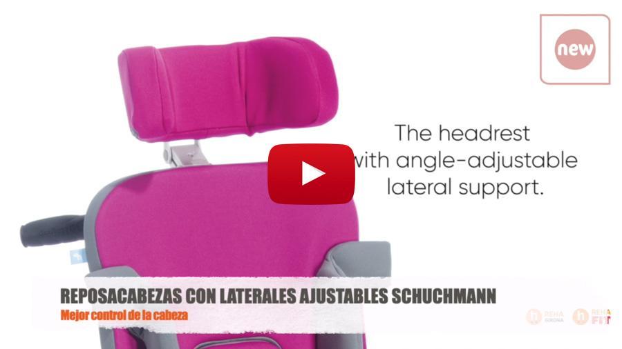 Vídeo amb les principals característiques del Reposacaps amb laterals ajustables Schuchmann