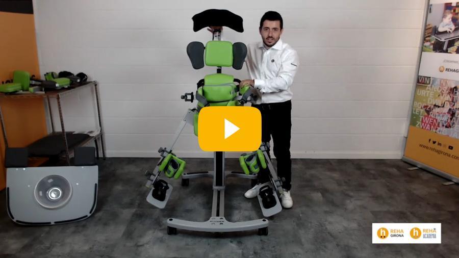 Visualitza el vídeo de la presentació de l'bipedestador Standz Talla 2 - Rehagirona